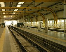 Railway Station Stock Image