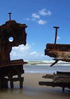 Free Beach Wreck Stock Images - 641254