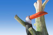 Wooden Bird Royalty Free Stock Photo