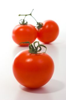 Free Three Big Tomatoes Royalty Free Stock Photography - 642427