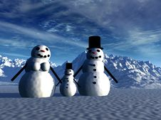 Free Snowman  12 Royalty Free Stock Images - 642529