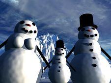 Free Snowman  16 Stock Image - 642531