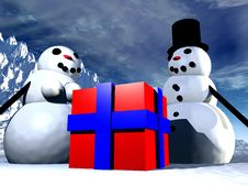 Free Snowman  28 Stock Photography - 642532