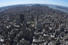 Free Bird View Of Downtown Manhattan Royalty Free Stock Photography - 643367