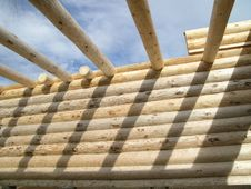 Free Log Cabin Cross Beams Stock Image - 643381