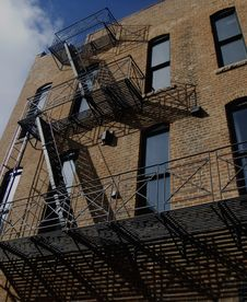 Free Fire Escape Royalty Free Stock Photos - 643428