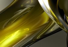 Free Liquid Yellow Metall 05 Stock Photography - 643552