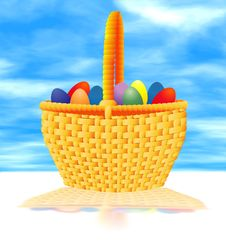 Free Easter Basket 2 Royalty Free Stock Photography - 643757