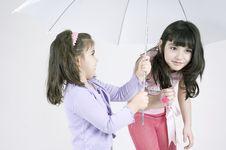 Free No Rain Under The Umbrella Stock Photography - 644202