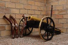 Free Old Canon In Cellar Royalty Free Stock Image - 644736