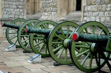 Cannon Row Stock Images