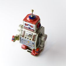Free Collectable Clockwork Toy Robot Stock Image - 645211