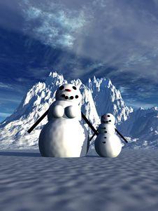 Free Snowman  22 Stock Photo - 645540