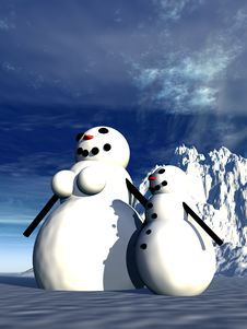 Free Snowman  25 Stock Photos - 645543