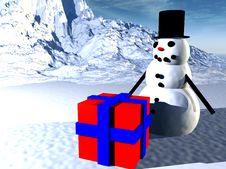 Free Snowman  32 Royalty Free Stock Image - 645546
