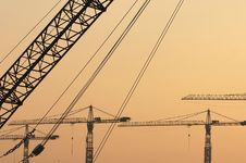 Free Crane Booms Stock Photography - 645962