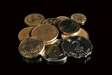 Free Foreign Coins Royalty Free Stock Photography - 646047