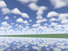 Free Clouds. Perfect River 2 Royalty Free Stock Images - 647129