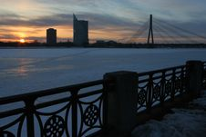 Free Sunset In Riga Royalty Free Stock Photo - 647585