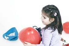 Free Little Girl And Balloon Stock Photos - 648233