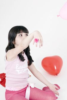 Free Playing With Balloons Royalty Free Stock Photo - 648245