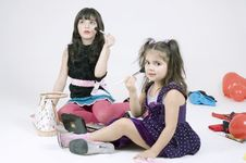 Free Make-up Sisters Stock Photography - 648352