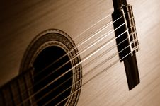 Free Sepia Guitar Royalty Free Stock Photo - 648435