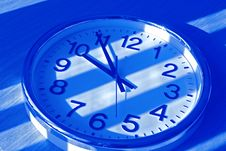 Free Clock In Blue Shadow Stock Photo - 648830