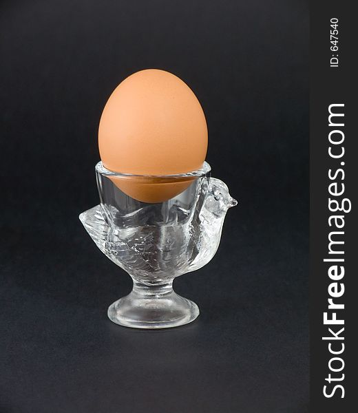 Eggcup with boiled egg