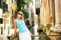 Free Woman Relaxing In Venice Stock Photography - 6400412