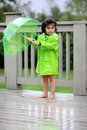 Free Child And Her Rain Gears Royalty Free Stock Photo - 6403525