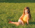 Free Beauty Teen Girl On Grass Royalty Free Stock Images - 6403799