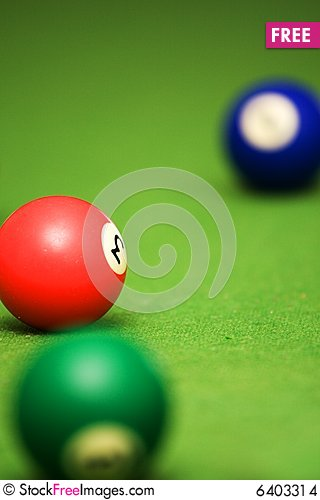 Free Pool Balls On Pool Table Stock Images - 6403314