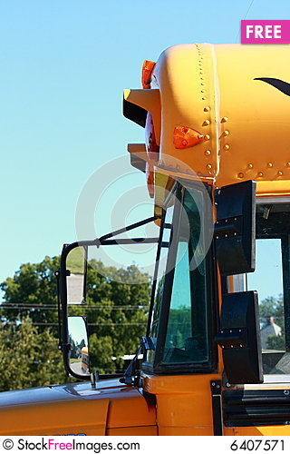 Free School Bus Side Stock Image - 6407571