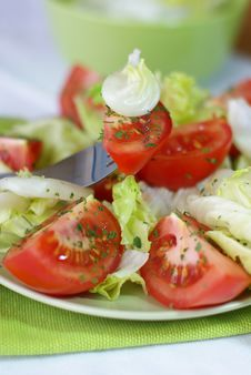 Free Salad With Tomatoes Royalty Free Stock Images - 6400059