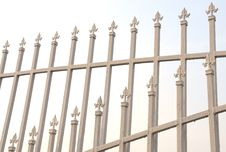 Free The White Lacquered Iron Railing Stock Photos - 6400103