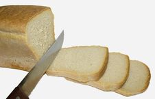 Bread And Knife Royalty Free Stock Photo