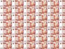 Background Of Russian Roubles Royalty Free Stock Photos