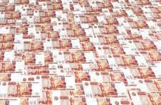 Background Of Russian Roubles Royalty Free Stock Image