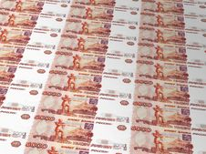 Background Of Russian Roubles Stock Photos