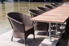 Free Wooden Table And Chairs Royalty Free Stock Photos - 6400838