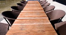 Free Wooden Table And Chairs Royalty Free Stock Photo - 6400975