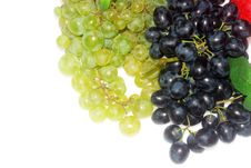 Green And Red Grapes And Apple Royalty Free Stock Images