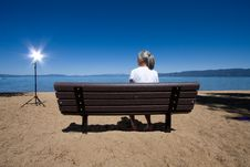 Free Woman On Bench Royalty Free Stock Photo - 6401305