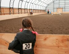 Young Lady, Waiting To Compete Stock Photo