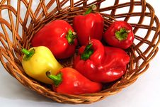 Free Red And Yellow Pepper Stock Photo - 6402210