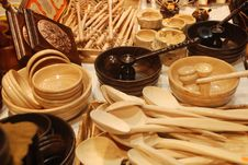 Handmade Wooden Spoon Royalty Free Stock Photos
