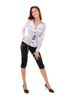 Free Beautiful Redheaded Girl Stock Image - 6402711