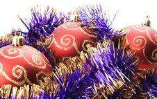 Free Three Red Christmas Balls Royalty Free Stock Photos - 6403918