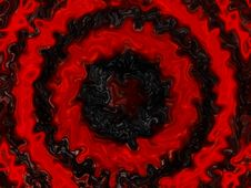 Free Black Distorted Wavy Fluid With Red Ripples Stock Image - 6404041